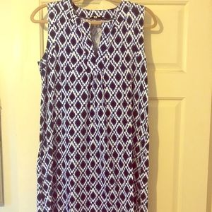 Cotton navy dress